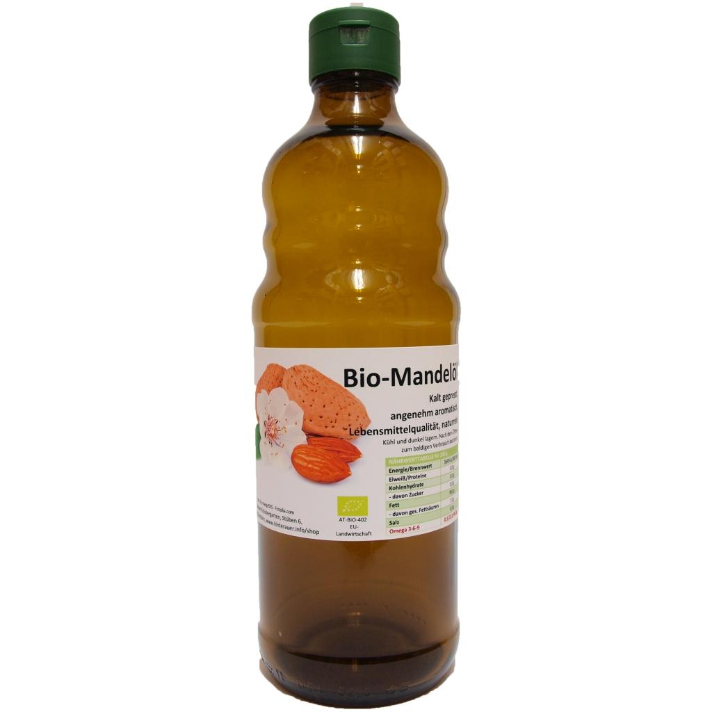 mandelöl, bio kaltgepresst 500 ml   kaufen, 24,90 €, Hause ideen