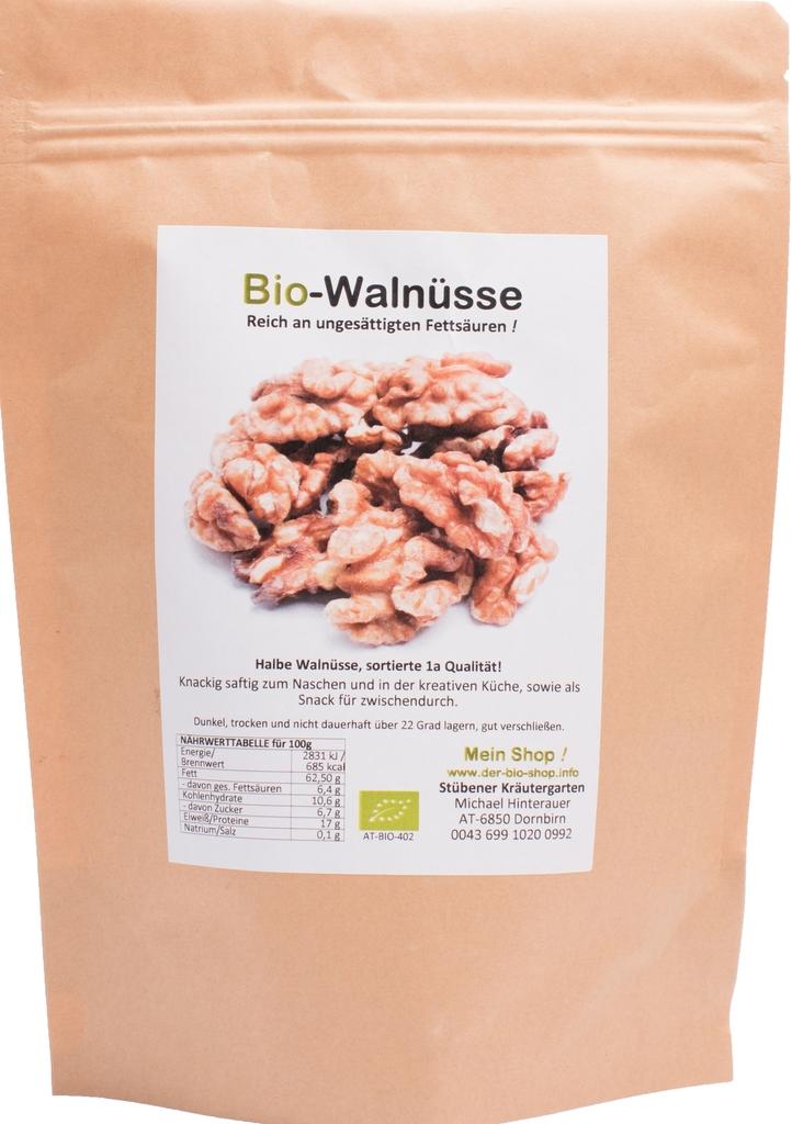 Ganz und zu Extrem Bio-Walnüsse, hellbraun, 1a Qualität | kaufen #YT_41